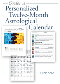Order 12 month personal astrologycal calendar
